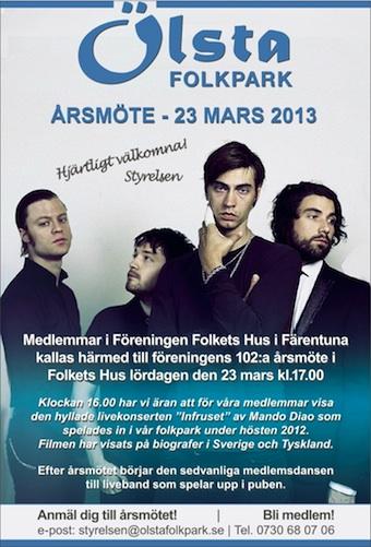 Kallelse till årsmöte i FFFH 23 mars 2013